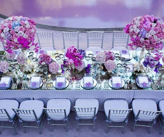 una boda color violeta | lila, morado | bodas pr