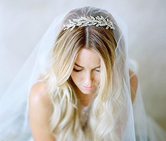 peinados para el velo de novia