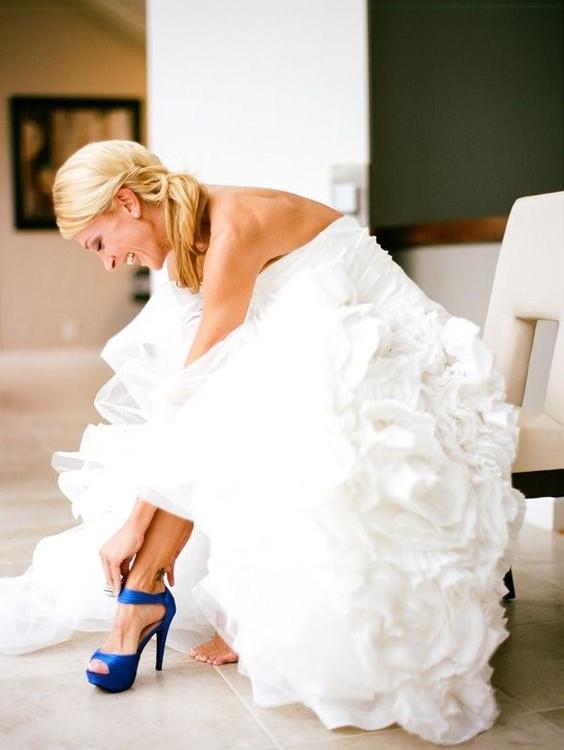 zapatos para novias color azul