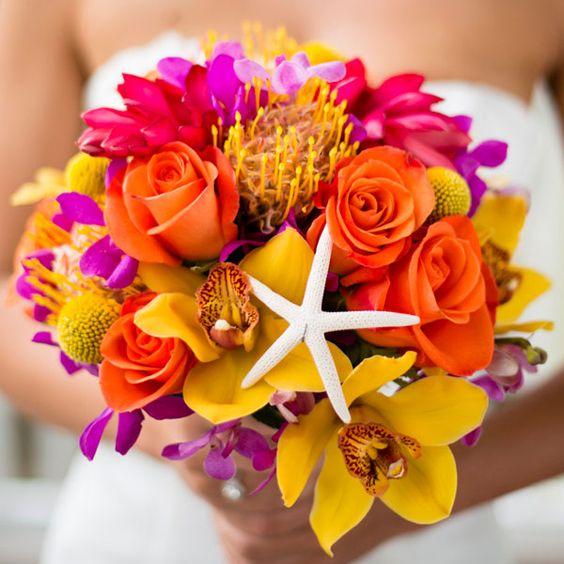 ramo de novia boda en la playa