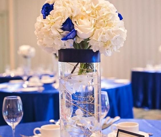 como decora boda azul