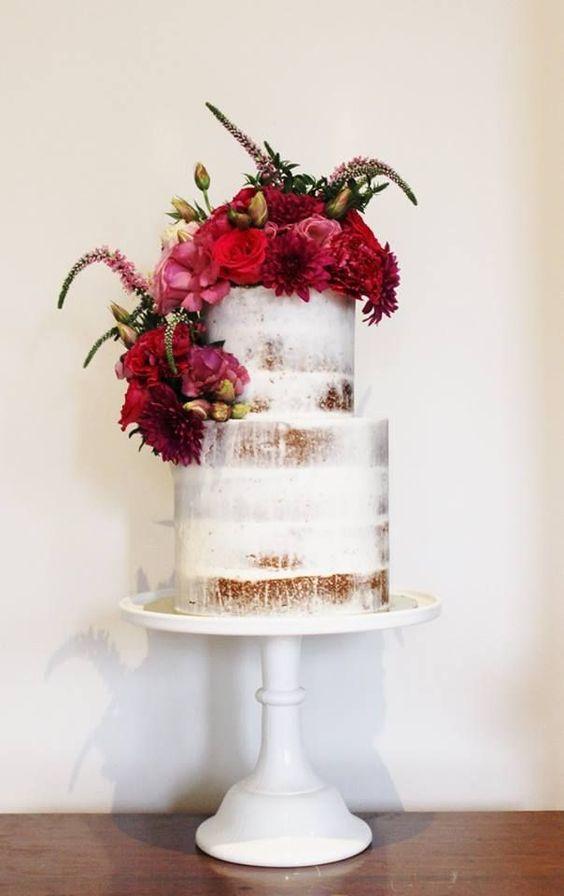 Naked Cakes: tendencia en bizcochos de boda