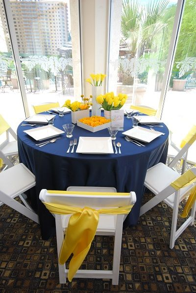 decoracion boda amarillo y azul