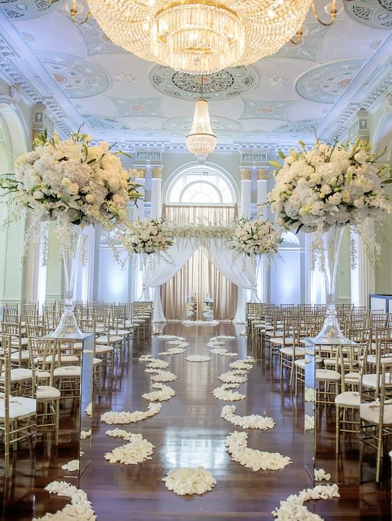 ideas para decorar pasillos de bodas