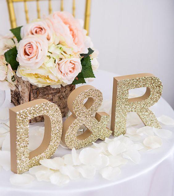 Letras para decorar una boda letras gigantes iniciales - Cosas para preparar una boda ...