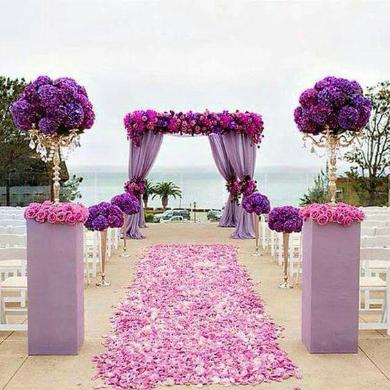 ideas para decora el pasillo de una boda