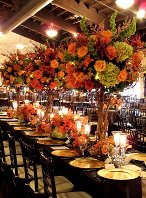 centros de mesa para bodas otoñales