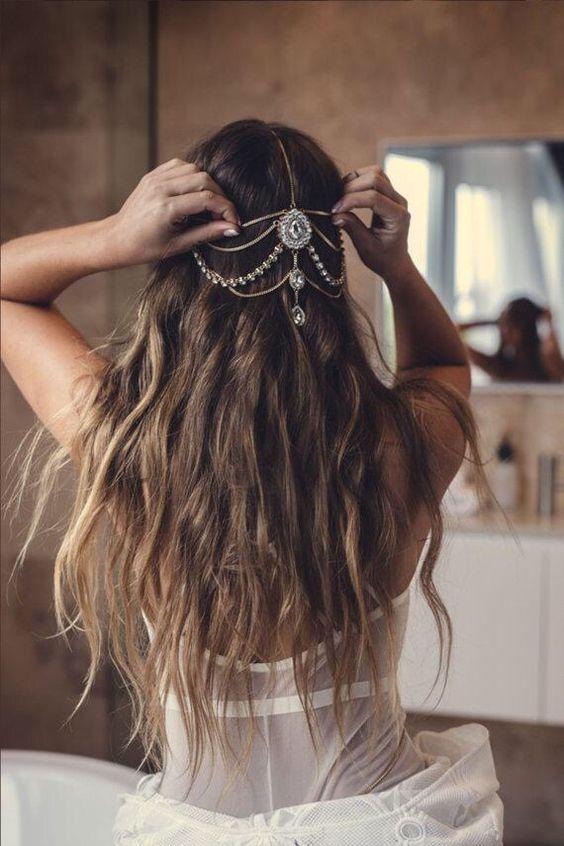 peinados para novia boho