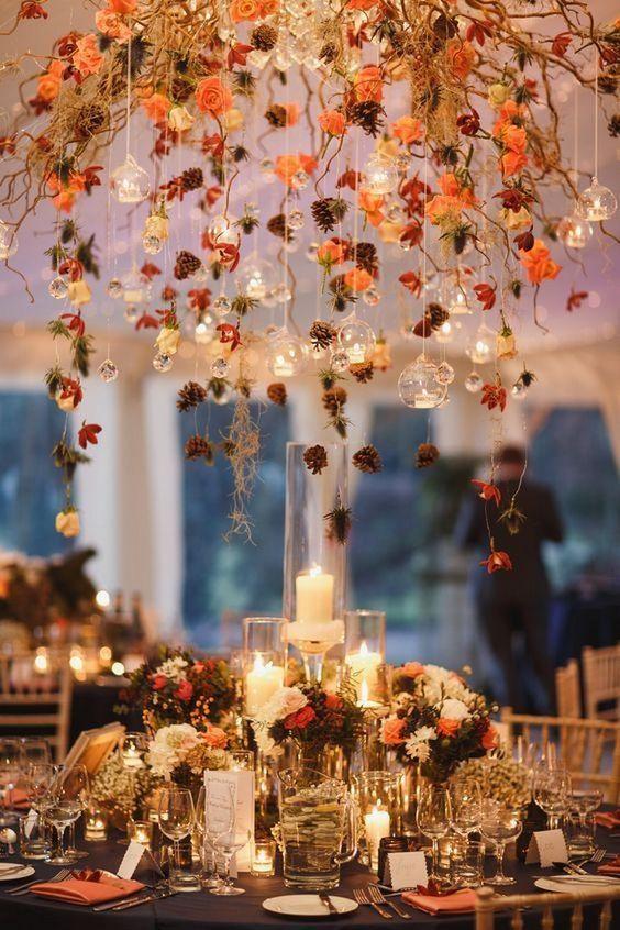 Centros de mesa para bodas de otoño