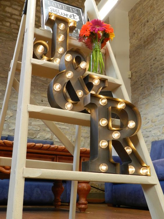 letras iluminadas bodas puerto rico
