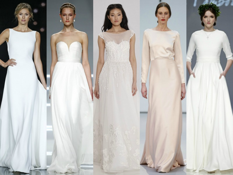 vestidos de novia súper sencillos: tendencia minimalista - en boda pr