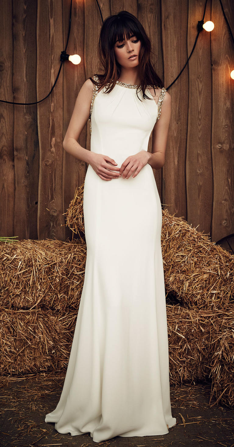 Vestidos de novia con pedrería: