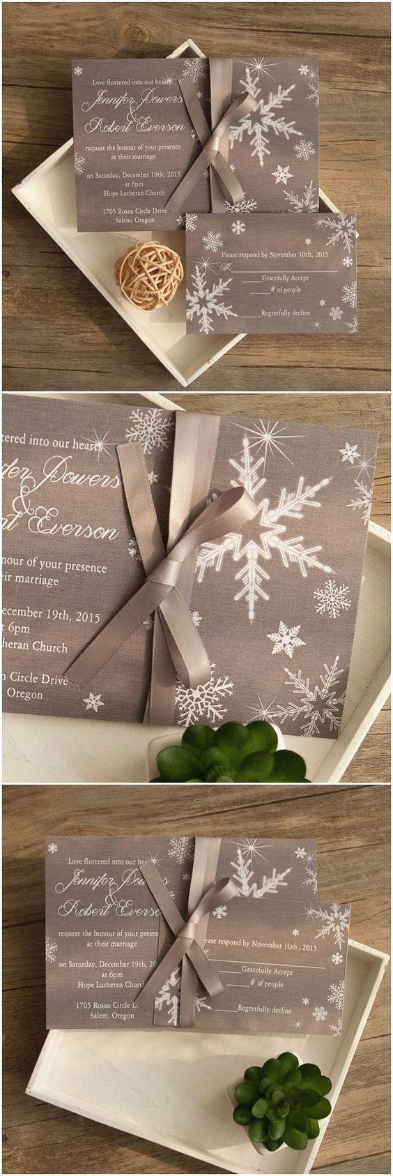 Cómo escoger las invitaciones para una Boda Navideña