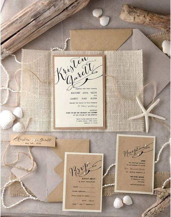 invitaciones para una boda en verano