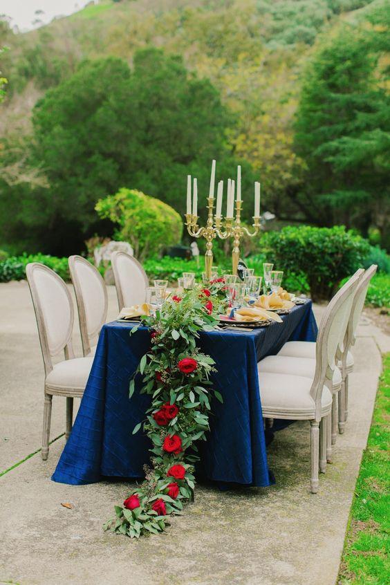 Rojo y azul para boda el 4 de julio - ¿Te atreves? | En Boda PR
