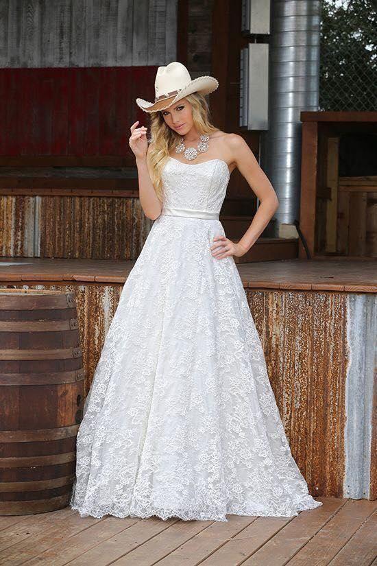 vestido de novia para boda country