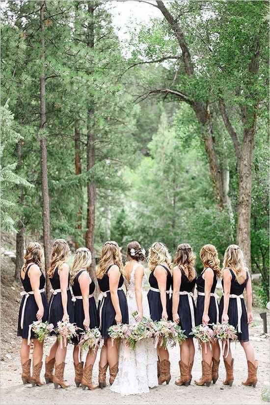 vestidos para damas boda vaquera