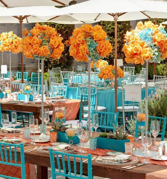ideaspara uan boda aqua y coral