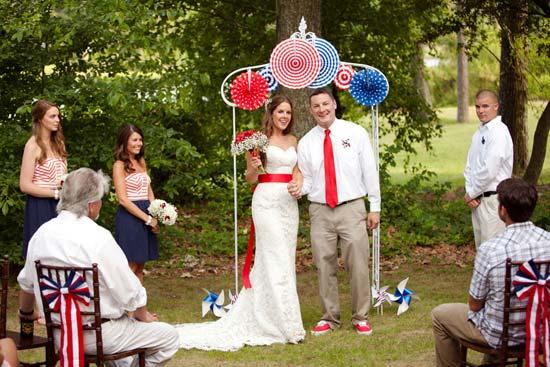 decoración para una boda el 4 de julio