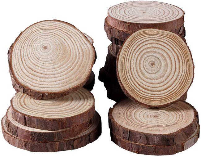 troncos para boda rústica