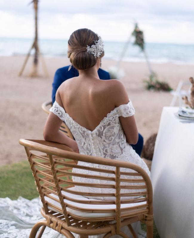 vestido para boda en la playa