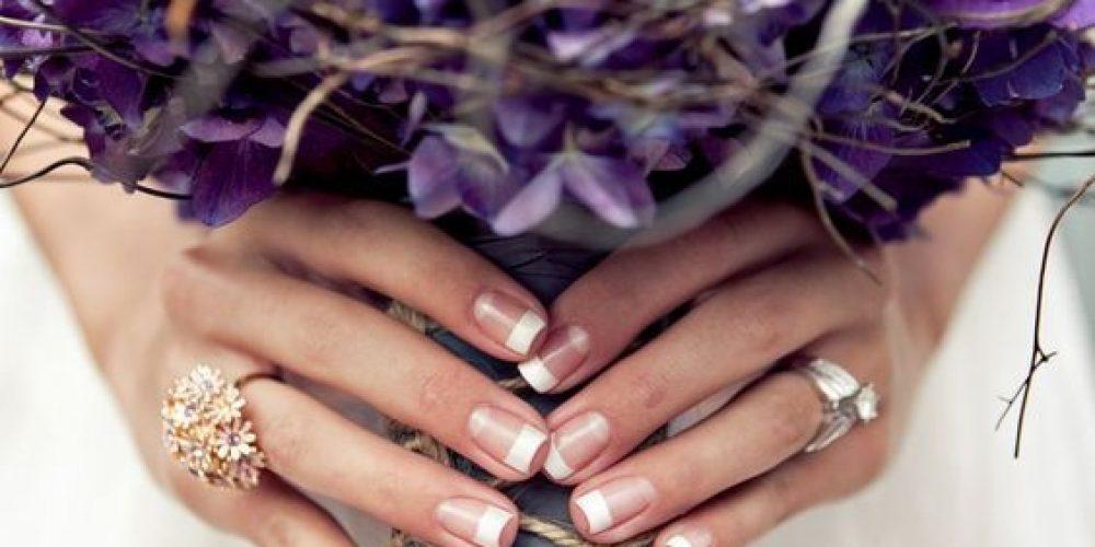 Espectaculares ramos de novia color violeta