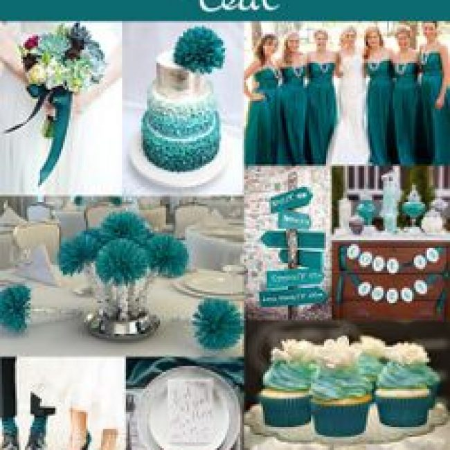Ideas para una boda color Teal