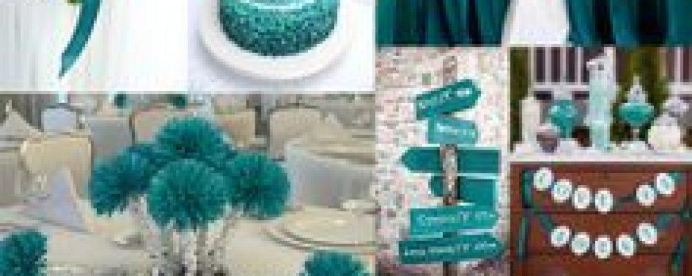 Ideas para una boda color Teal