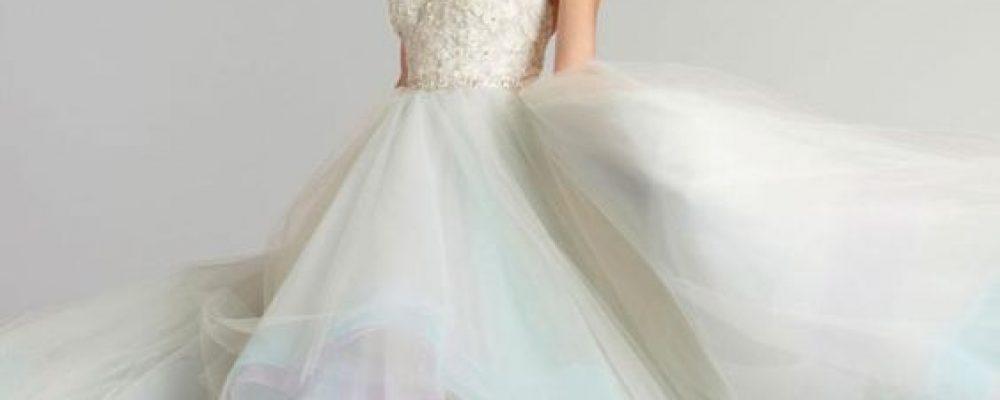 Vestido de novia multicolor para la Primavera.