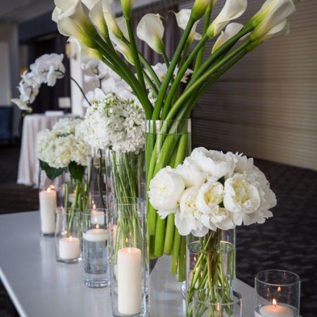 Centros de mesa modernos para una boda