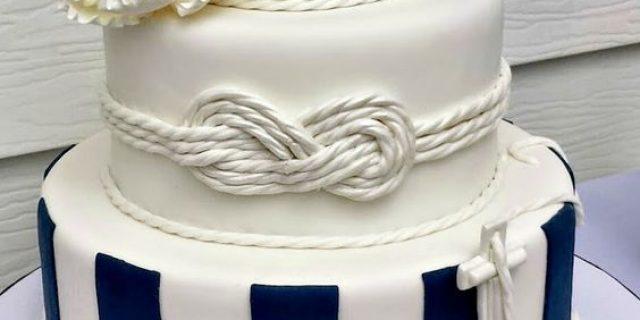 Bizcochos con motivos marinos para una boda en la playa