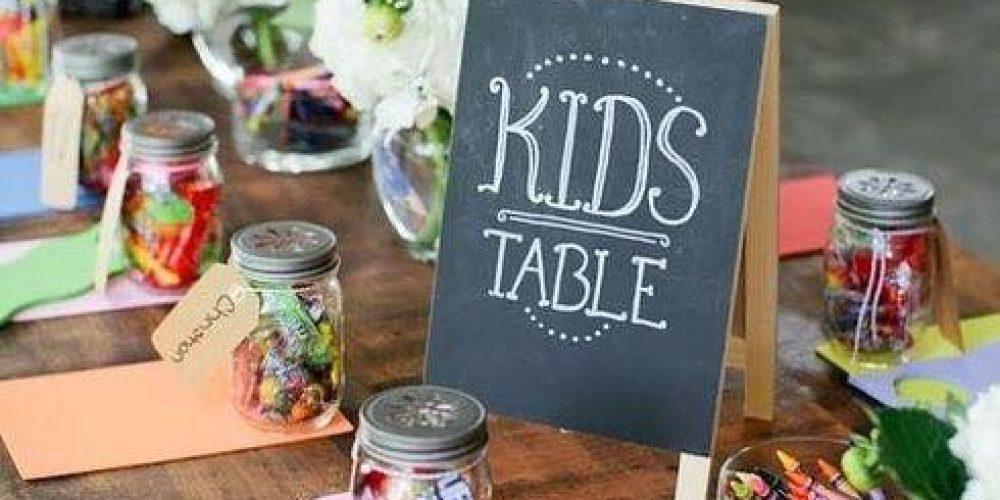 Ideas para decorar la mesa de los niños en la boda