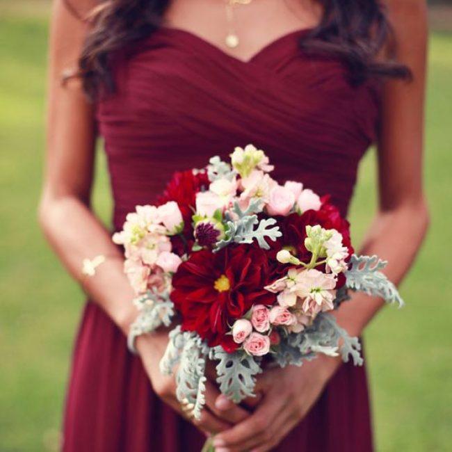 Ideas para una boda color Vino