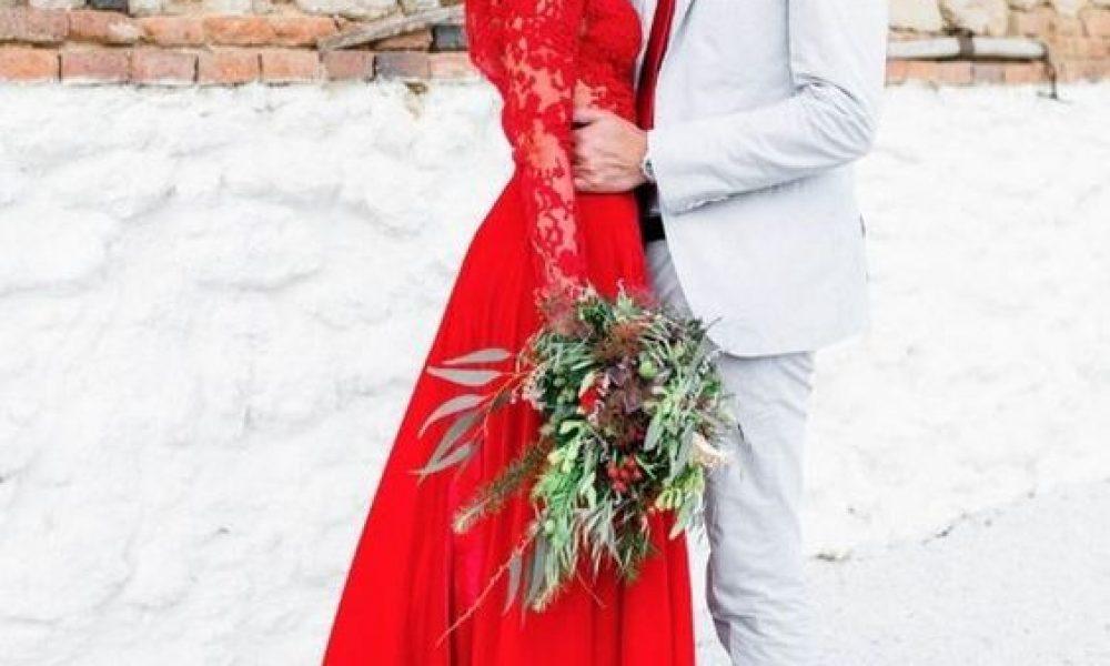 Vestidos de novia rojos, ¿te atreves?