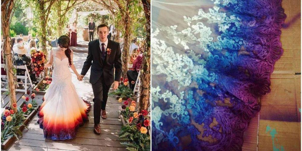 Personaliza tu vestido de novia con la técnica Dip Dye