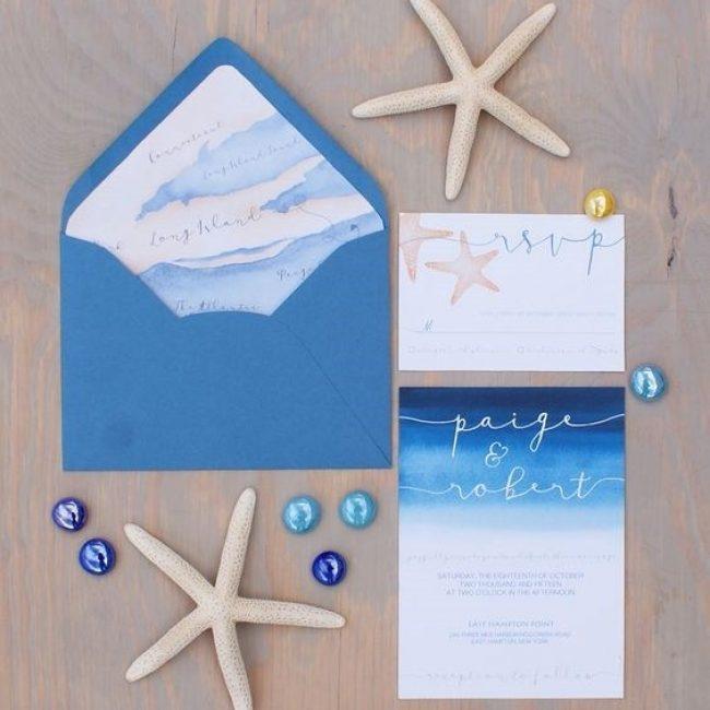 Originales invitaciones para una boda en verano