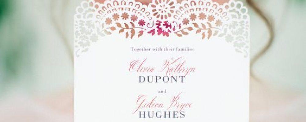 Ideas para diseñar invitaciones de boda románticas