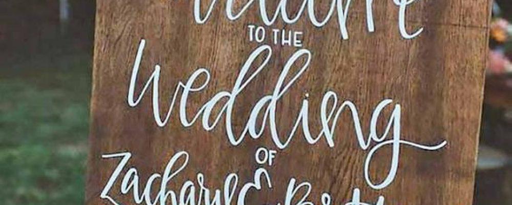 Letreros o carteles para bodas