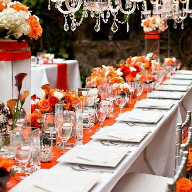 9 tips para decorar una boda color naranja