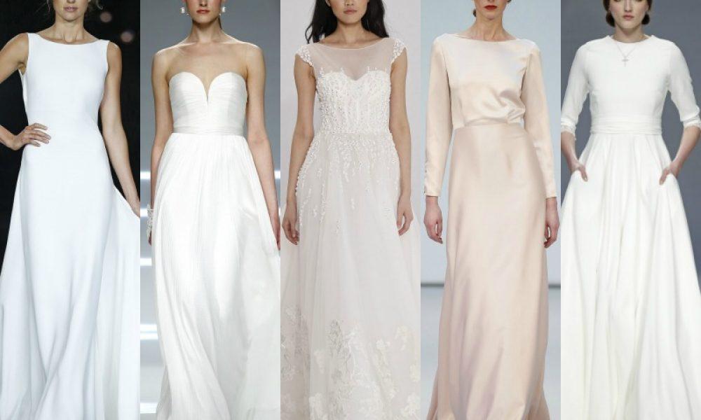 Vestidos de novia súper sencillos: tendencia minimalista
