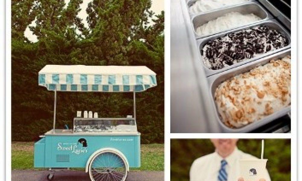 Carrito de helados o piraguas para tu boda