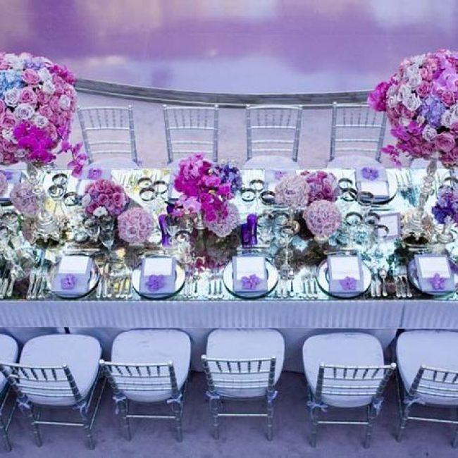 Una boda color violeta