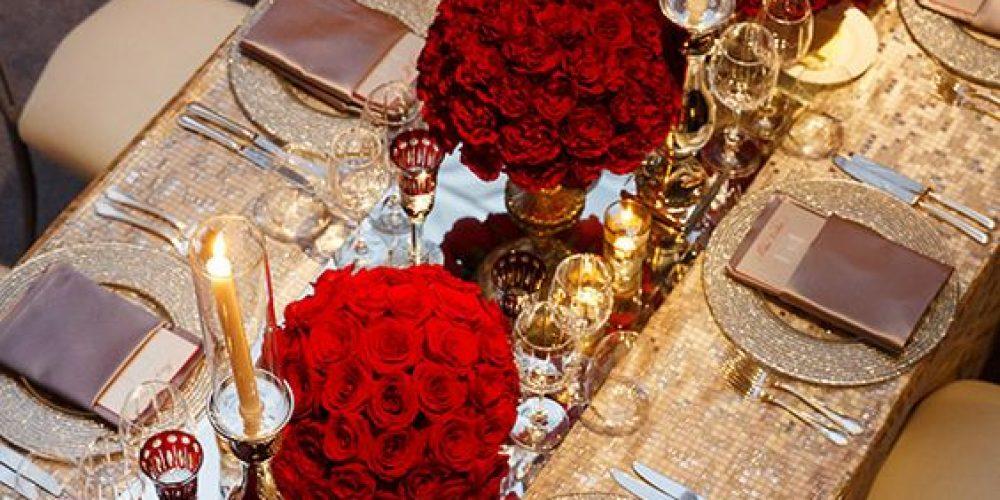 Atrévete a decorar tu boda de color rojo
