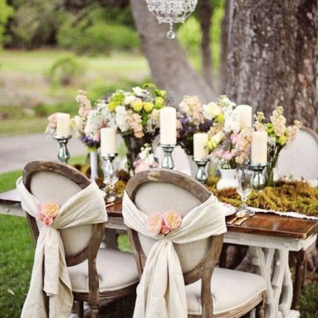Centros de mesa para una boda Vintage