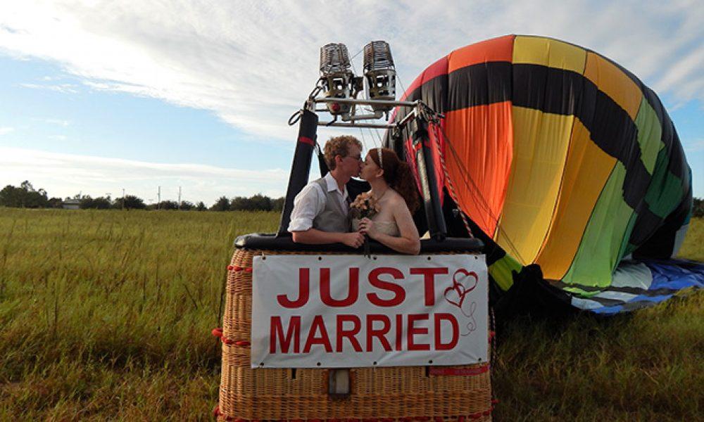 Una inolvidable boda en Globo Aerostático