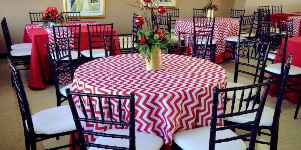 El chevron para las mesas de la boda