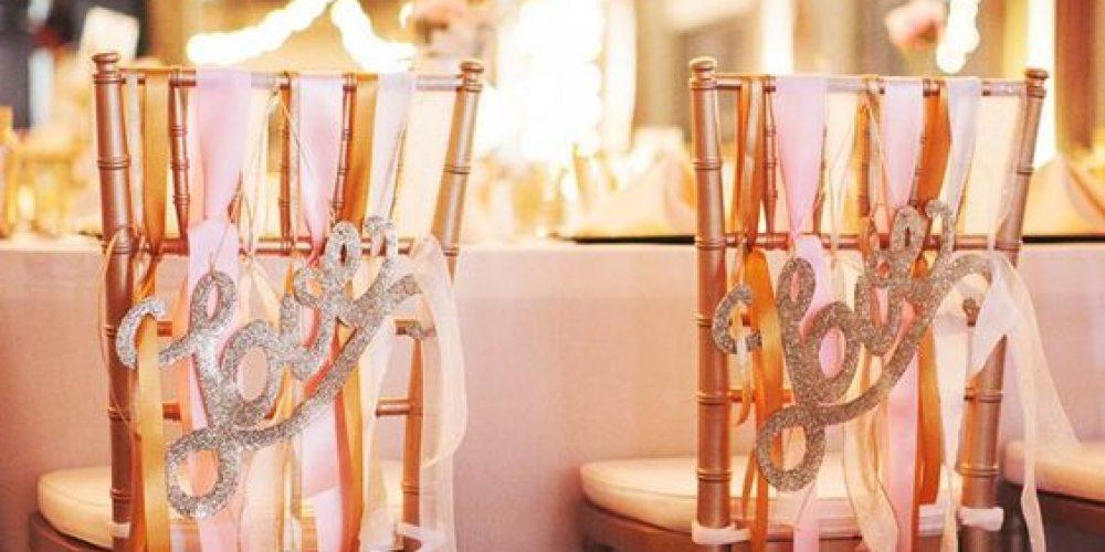 Cómo decorar las sillas de la boda: ideas