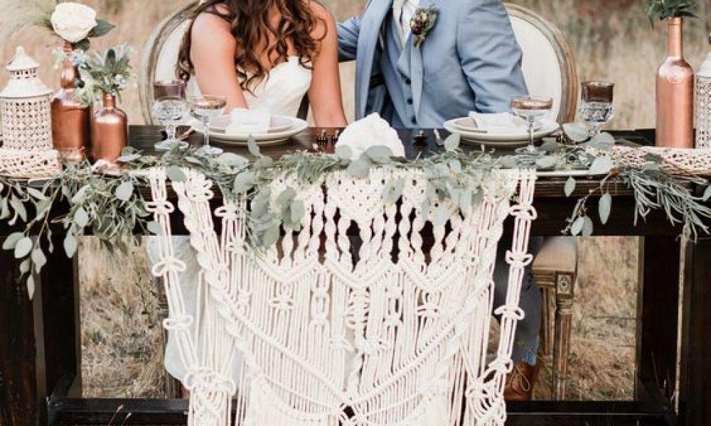 El macramé es tendencia en las bodas boho
